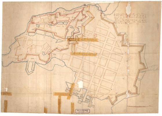 Kristiania amt nr 4: Kart over Akershus og Kristiania med den hele Vold rundt i Byen