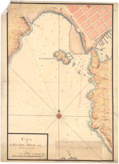 Museumskart 58a: Carte af den Westre Hafn ved Christiansand
