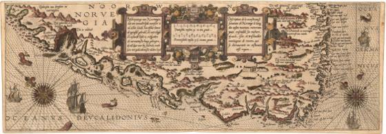 Museumskart 167: Kysten fra Osterøy til Langesund
