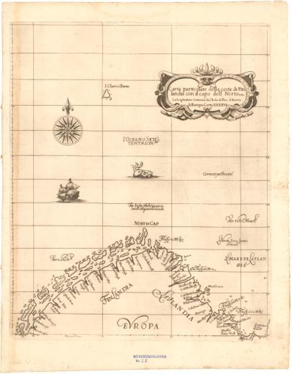Museumskart 172: Kart over Barentshavet