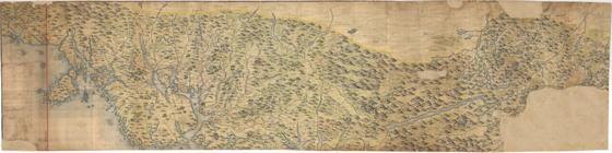 Norgesavdelingen 14: Kart over en Del af  Trondhjems Stift