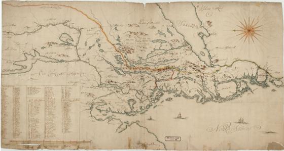 Norge 12: Kart over Smaalenenes Amt med Bahus Len samt Dele af Akershus og Hedemarkens Amter